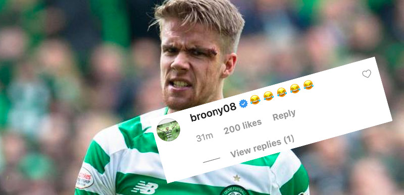 Cheeky Ajer Posts Brilliant Cup Final Photo - Scott Brown Approves